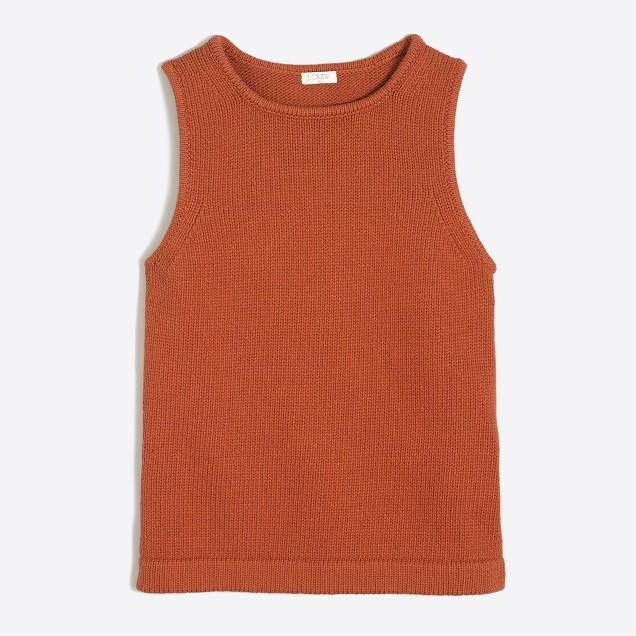 Cotton sweater tank top