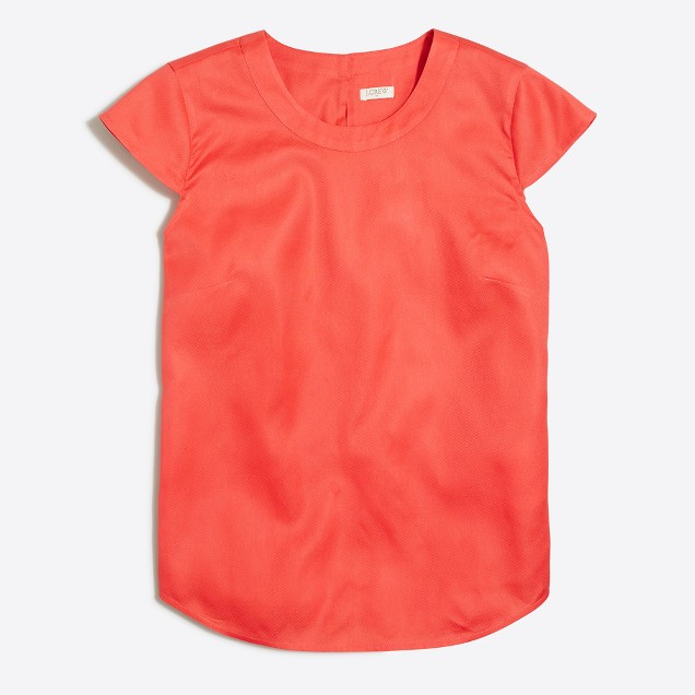 Drapey oxford crepe top