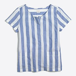 Striped placket T-shirt