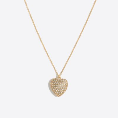 Girls' crystal heart necklace