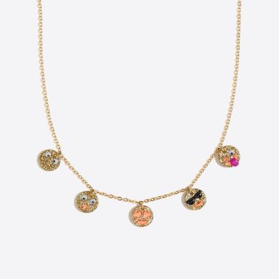 Girls Emoji Charm Necklace Factorygirls Jewelry Accessories C