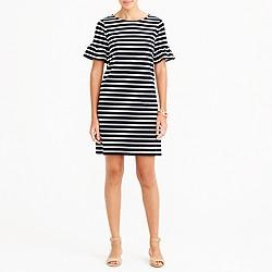 Ruffle-sleeve dress