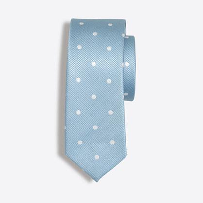 Boys' dotted silk tie