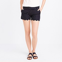 "4"" printed scallop-hem short"