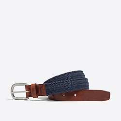 Boys' braided elastic belt