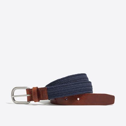 Boys' braided elastic belt