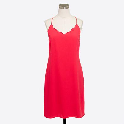 Scalloped tank dress