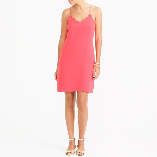 Scalloped tank dress