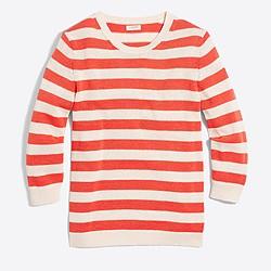 Striped three-quarter sleeve sweater