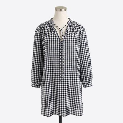 Printed linen-cotton tunic