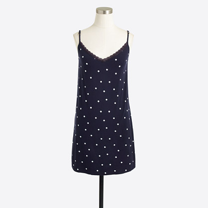 Polka-dot pajama dress