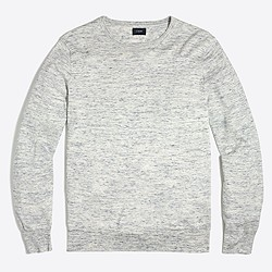 Cotton-linen crewneck sweater