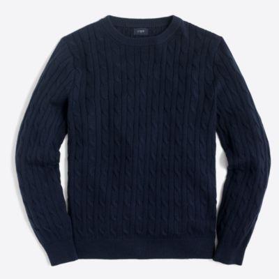 Harbor cable crewneck sweater   sale