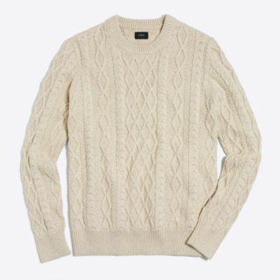 Fisherman cable crewneck sweater factorymen sweaters c