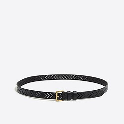 Perforated dot belt