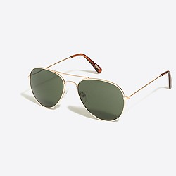 Golden aviator sunglasses