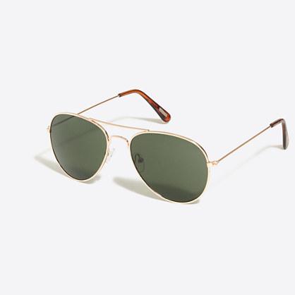 Golden aviator sunglasses