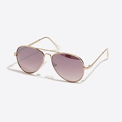 Boys' metal aviator sunglasses