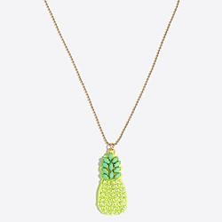 Girls' sparkle fruit necklace
