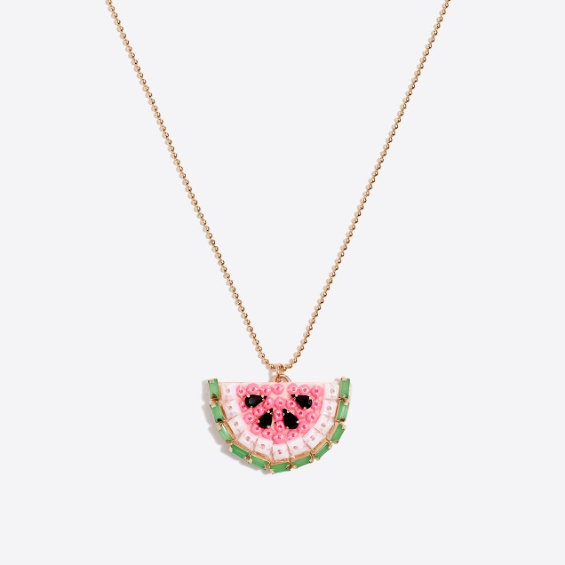 Girls' sparkle fruit necklace