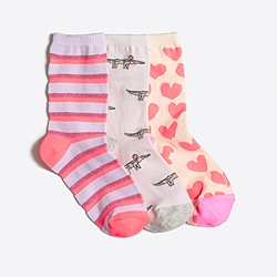 Girls' trouser socks three-pack