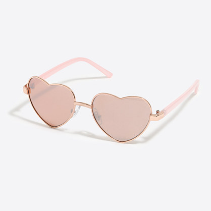 Girls' heart aviator sunglasses