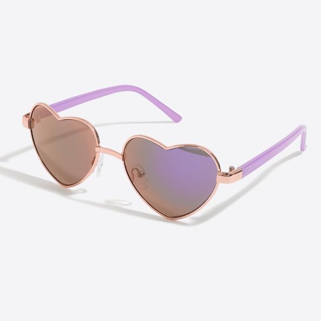 Girls' heart aviator sunglasses
