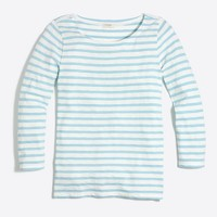Striped three-quarter sleeve T-shirt
