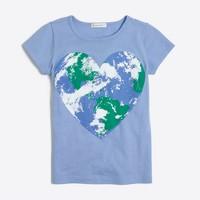 Girls' heart world keepsake T-shirt