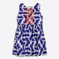 Girls' printed embroidered sleeveless dress