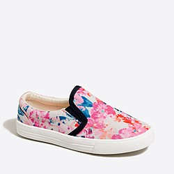 Girls' canvas slip-on sneakers