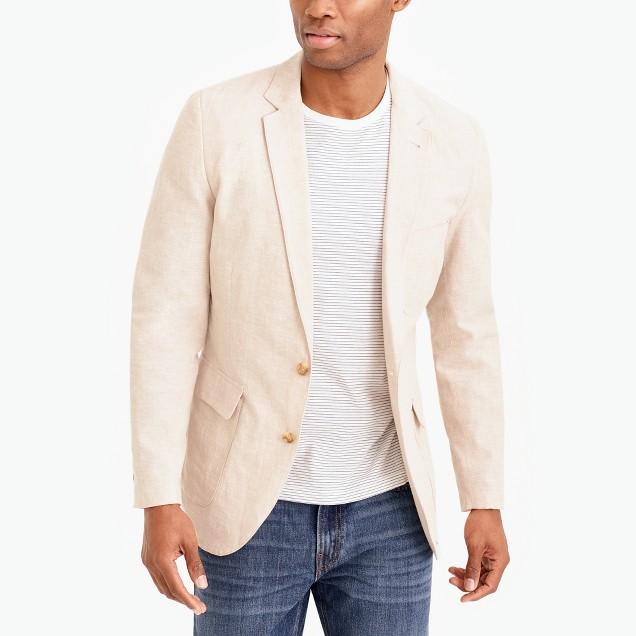 Thompson unstructured linen-cotton blazer