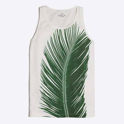 Palm leaf collector tank top