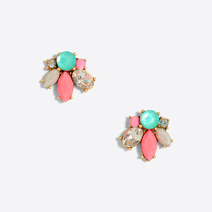 Neon cluster earrings