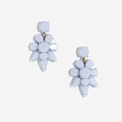 Opaque statement earrings
