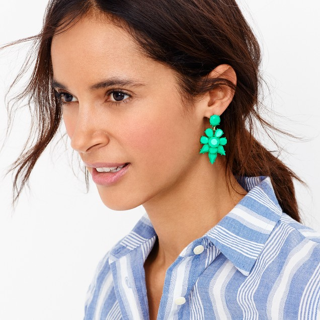 Opaque statement dangle earrings