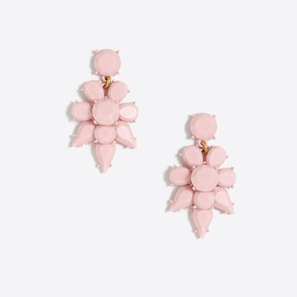 Opaque statement earrings