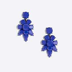 Opaque statement dangle earrings