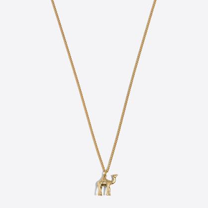 Camel pendant necklace