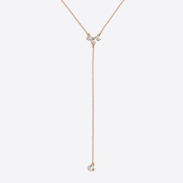 Crystal drop Y-necklace