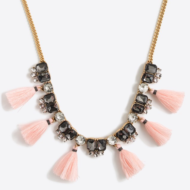 Gemstone tassel necklace