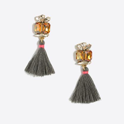 Gemstone tassel earrings