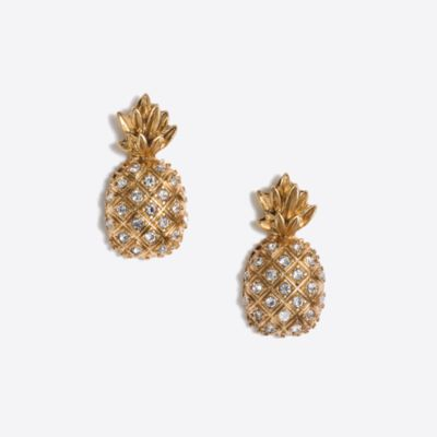 Pineapple earrings factorywomen new arrivals c