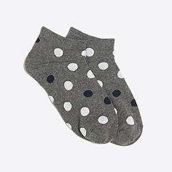 Heathered dot tennis socks