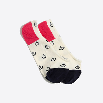 Anchor no-show socks