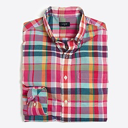 Slim madras shirt