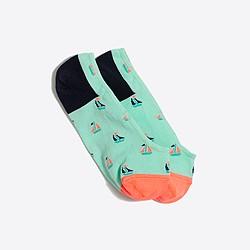 Sailboat no-show socks