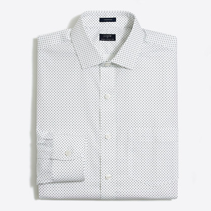 Patterned flex wrinkle-free Voyager dress shirt