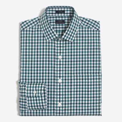 Gingham flex wrinkle-free Voyager dress shirt factorymen dress shirts c