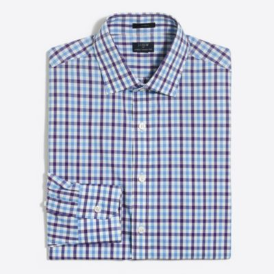 Classic-fit flex wrinkle-free Voyager dress shirt factorymen dress shirts c
